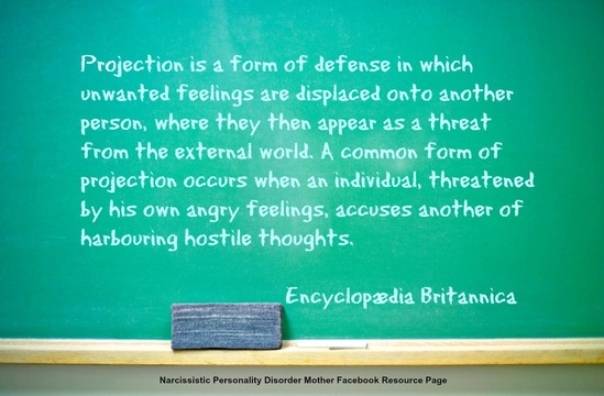 The Narcissist and Projection - Freedom From Narcissistic and