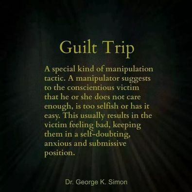 Narcissists and Guilt Trip
