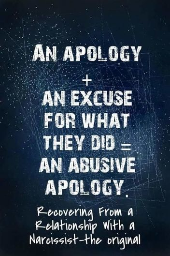 The Narcissist and The Fake Apology - Freedom From Narcissistic and