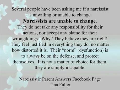 The Narcissistic Parent Of Special >> Why A Narcissist Can T Be Fixed Freedom From Narcissistic And