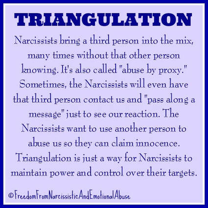 Narcissists And Triangulation - Freedom From Narcissistic